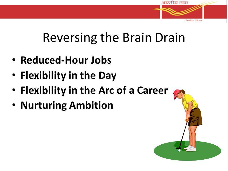 Reversing the Brain Drain Reduced-Hour Jobs Flexibility in the Day Flexibility in the Arc of a Career Nurturing Ambition