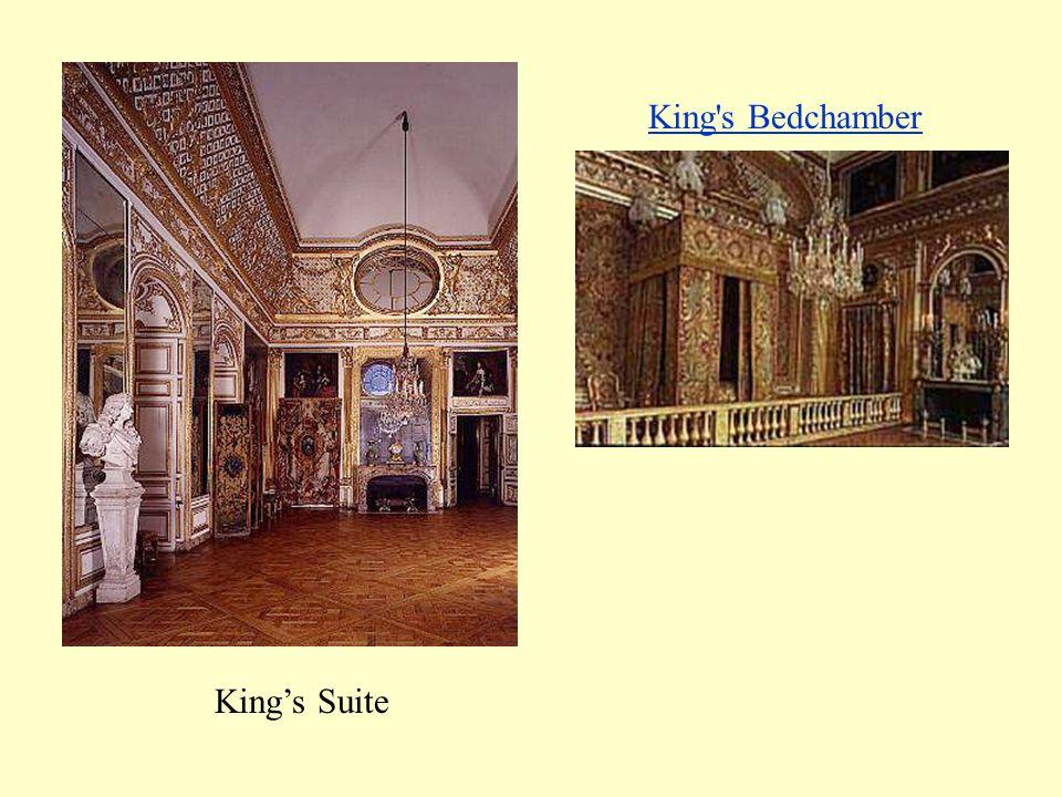 Versailles, 1668 Hall of Mirrors Queen's Bedchamber
