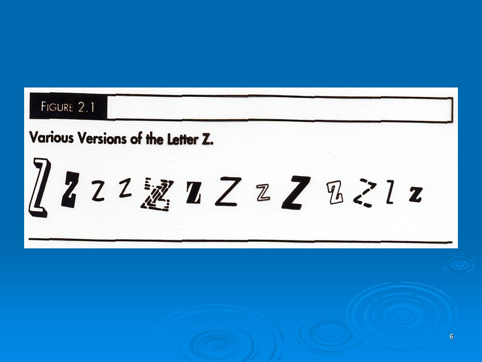 6 The Letter Z