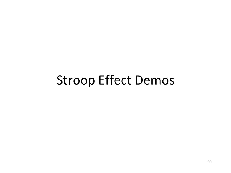 Stroop Effect Demos 66