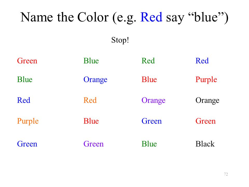 Name the Color (e.g.