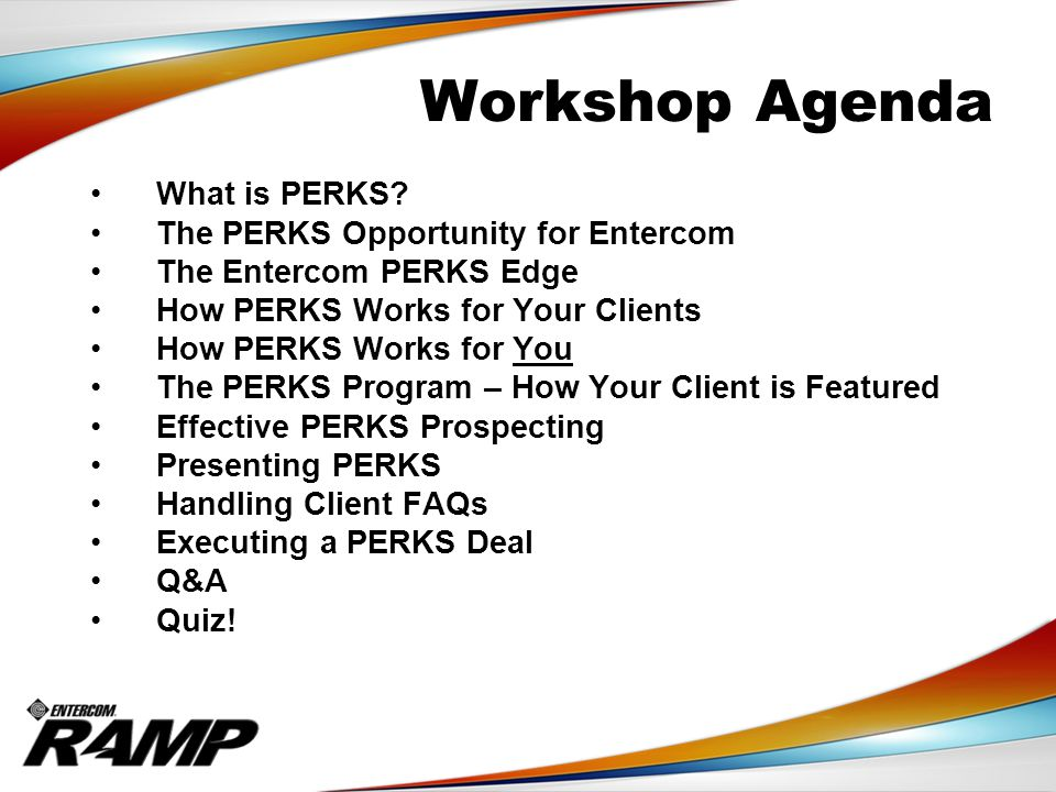 Why Should Your Client Use PERKS.