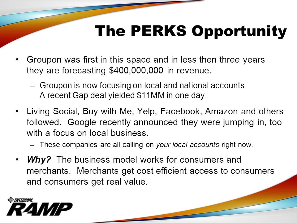The PERKS Opportunity As an Entercom A.E.
