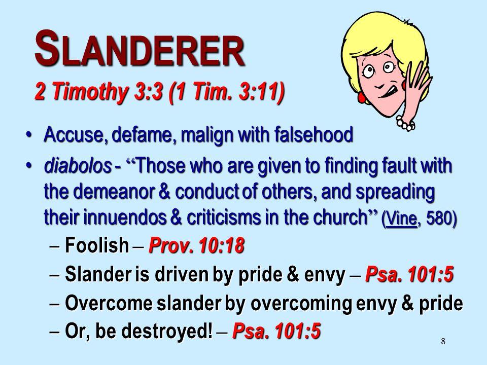8 S LANDERER 2 Timothy 3:3 (1 Tim.