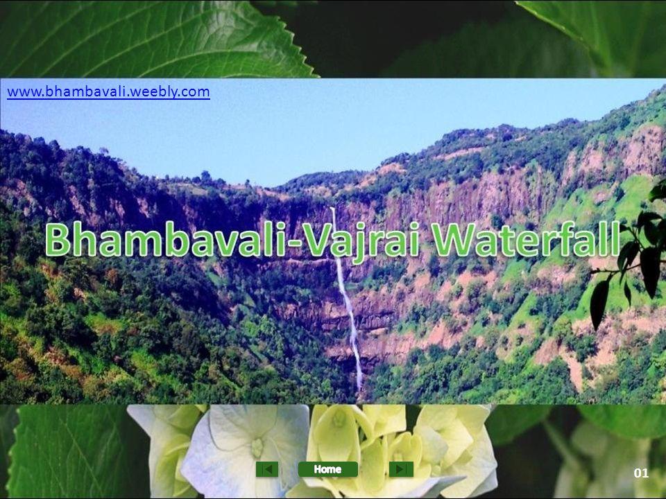 Bhambavali Vajrai Waterfall is situated at the Sahyadri hills near Satara.