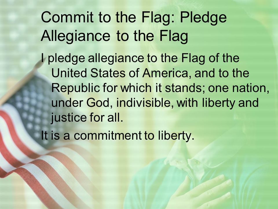 But more so, I pledge Allegiance To my Savior for Spiritual Liberty and the forgiveness of sins.