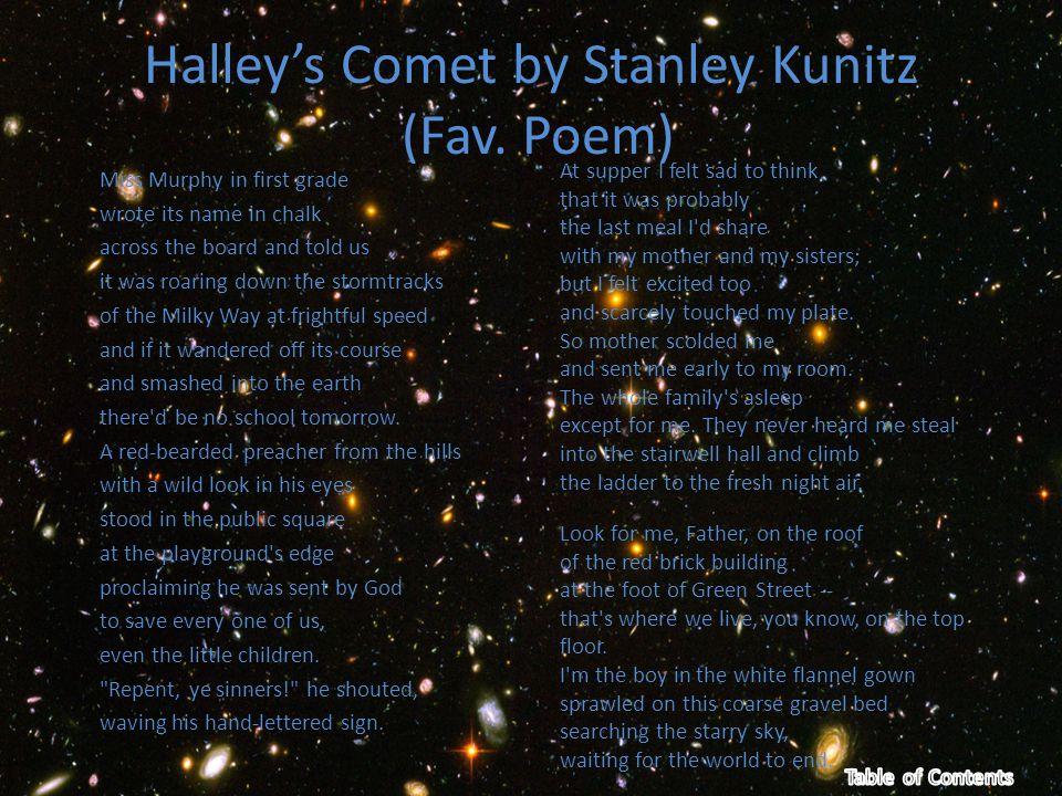 Halley's Comet by Stanley Kunitz (Fav.