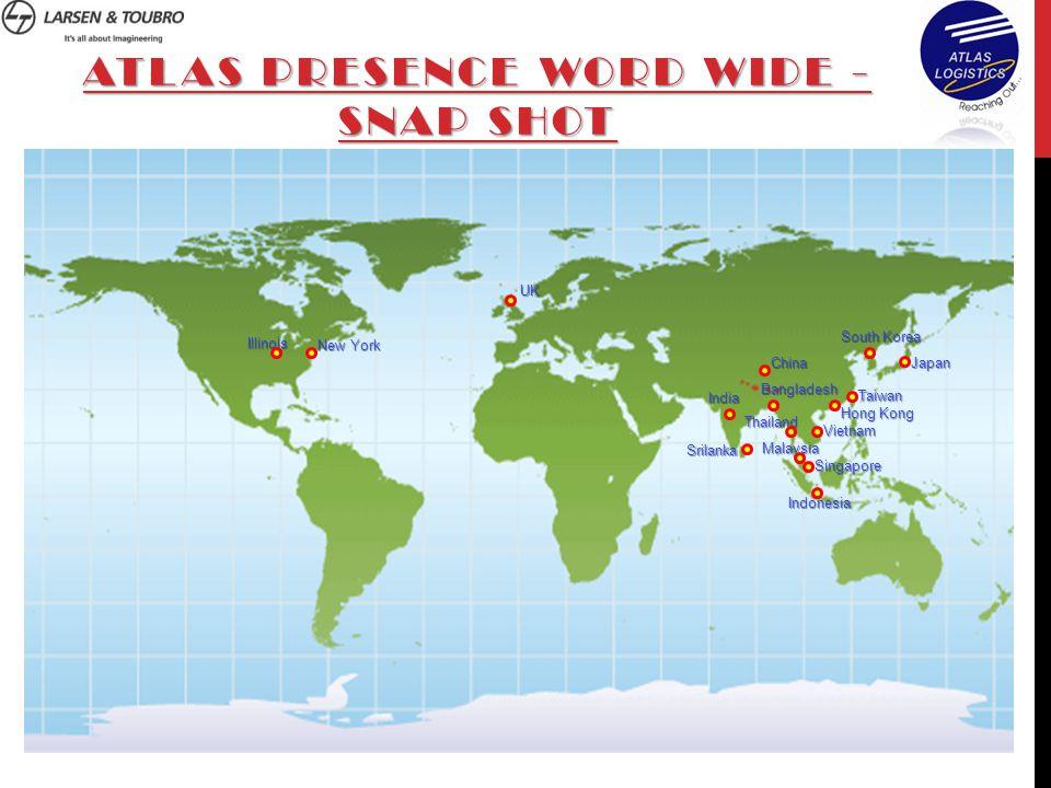WORLD HEADQUARTERS Location of company Atlas Logistics Pvt.