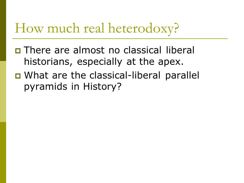How much real heterodoxy.