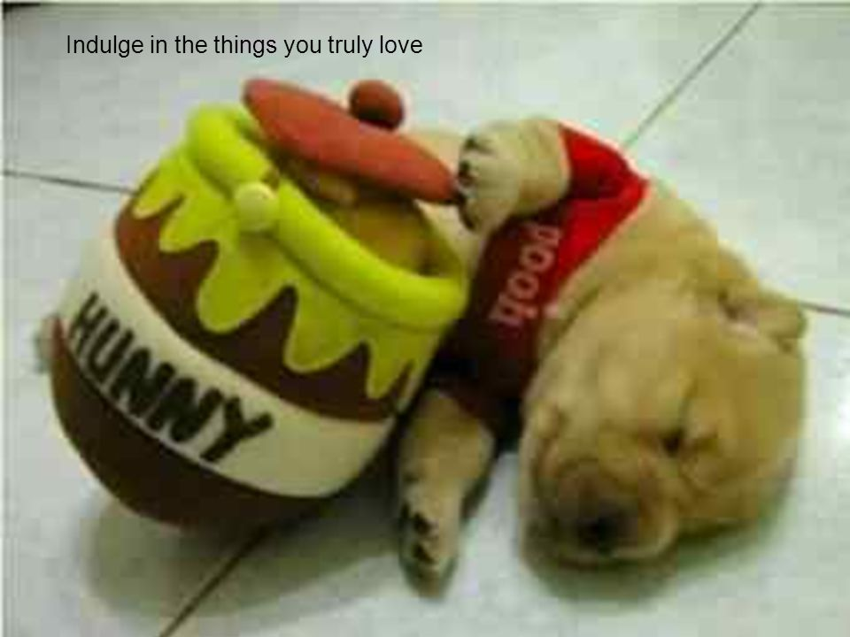 Indulge in the things you truly love