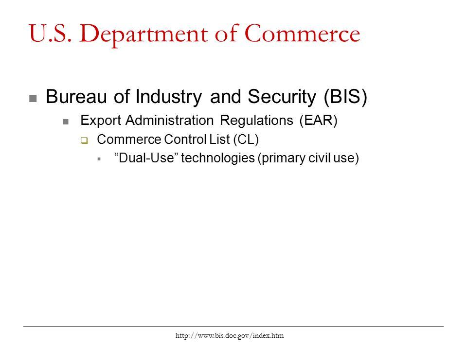 http://www.bis.doc.gov/index.htm U.S.