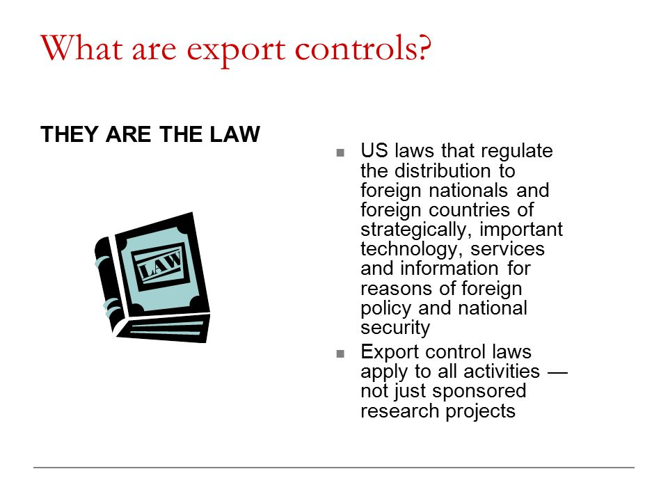 What are export controls.