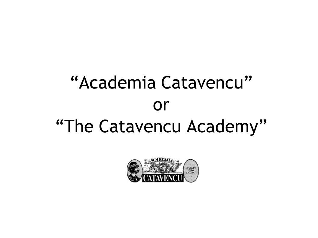 Academia Catavencu or The Catavencu Academy