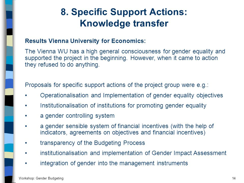 Workshop: Gender Budgeting14 8.