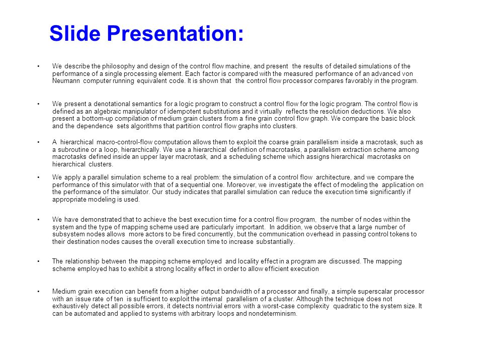 Outline Part I: Key Advice for Presentation Style Part II: Key Advice on Presentation Content Topics covered in Part II –Selecting a Problem –Picking