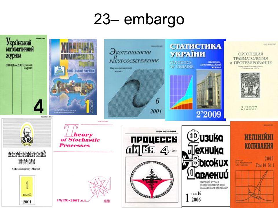 23– embargo