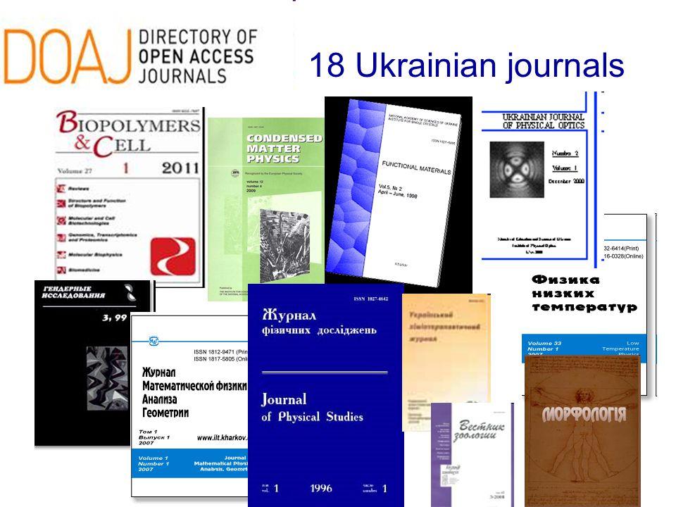 18 Ukrainian journals
