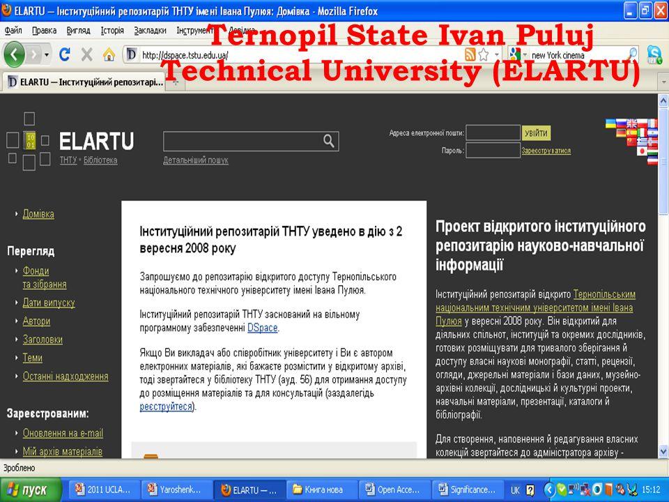 Ternopil State Ivan Puluj Technical University (ELARTU)