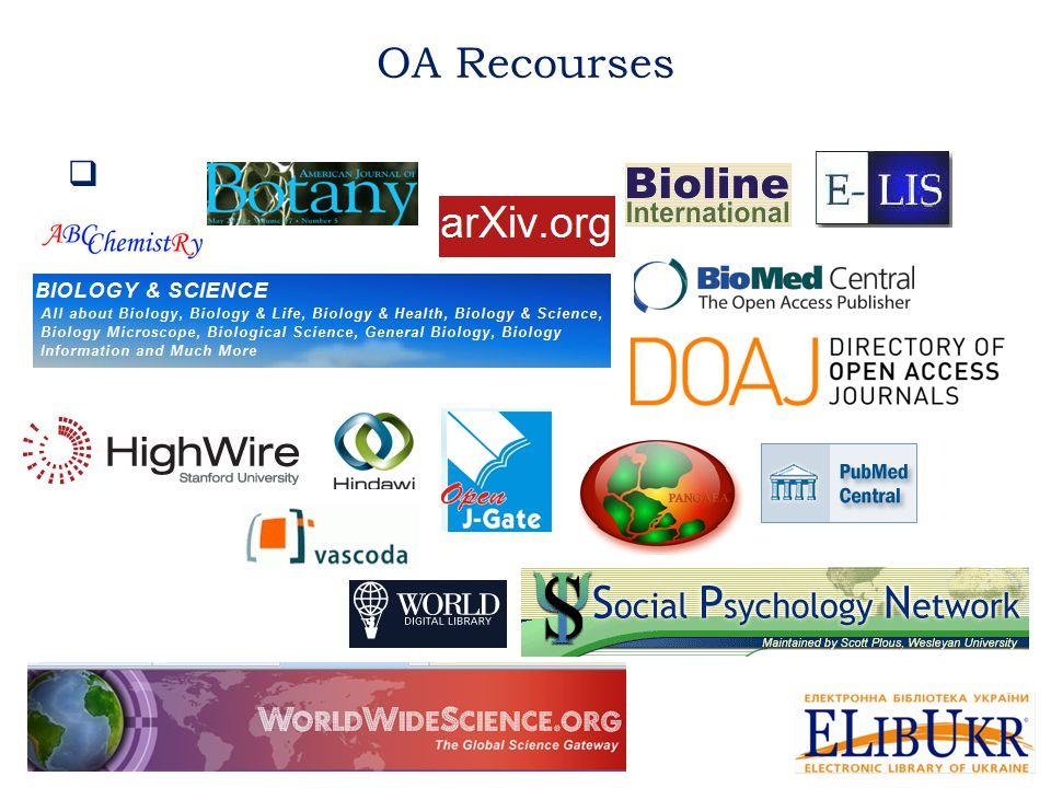  OA Recourses