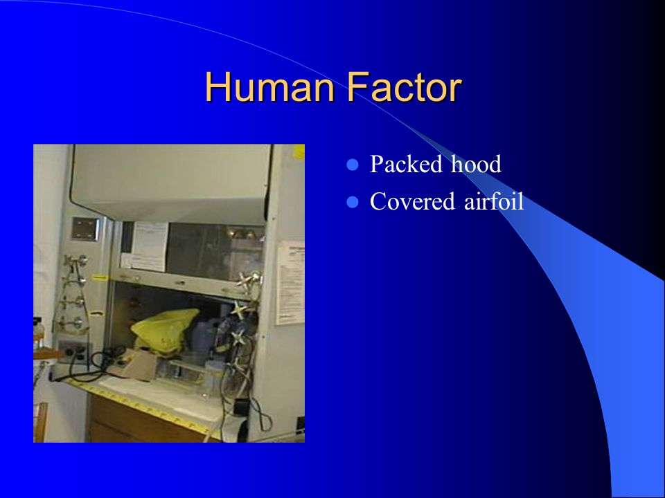 Human Factor Packed hood Covered airfoil