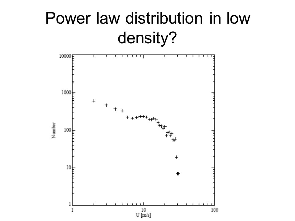 Power law distribution in low density?