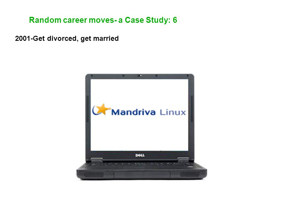 Random career moves- a Case Study: 6 2001-Get divorced, get married