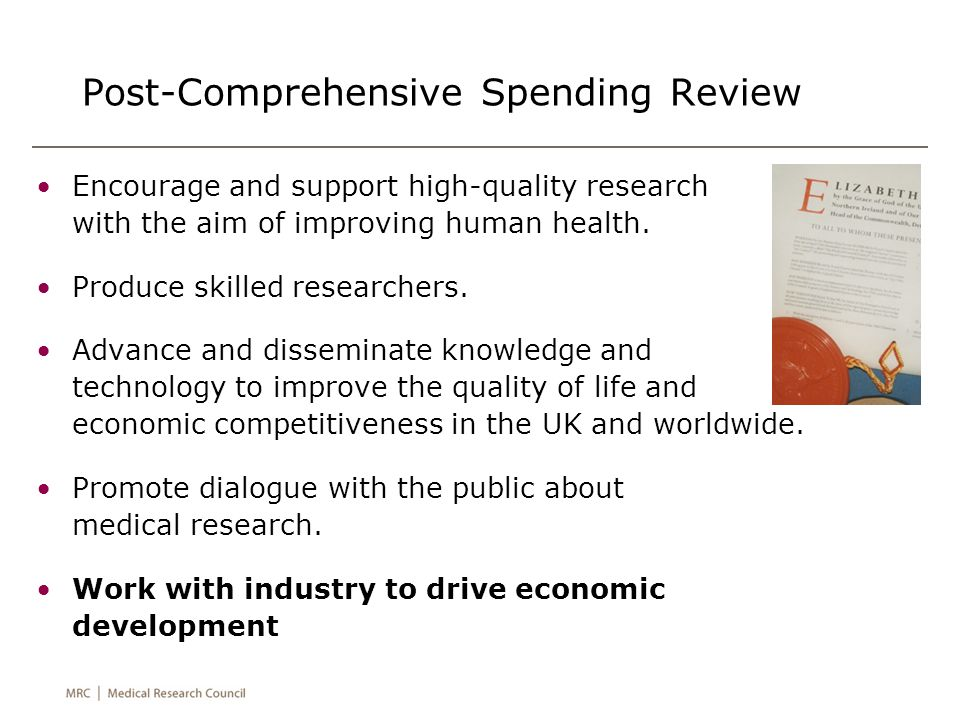Encourage and support high-quality research with the aim of improving human health.