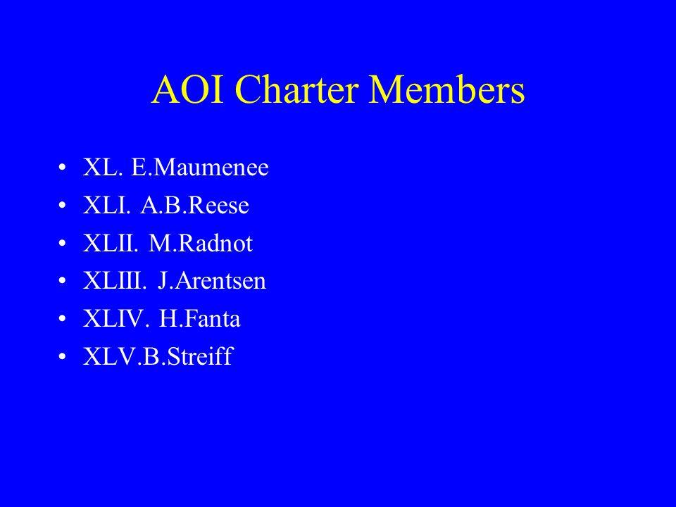 AOI Charter Members XL. E.Maumenee XLI. A.B.Reese XLII.