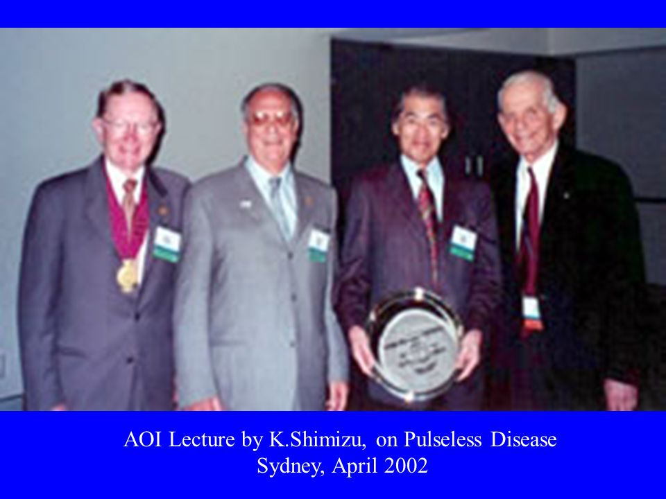 AOI Lecture by K.Shimizu, on Pulseless Disease Sydney, April 2002
