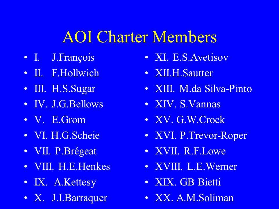 AOI Charter Members I.J.François II. F.Hollwich III.H.S.Sugar IV.