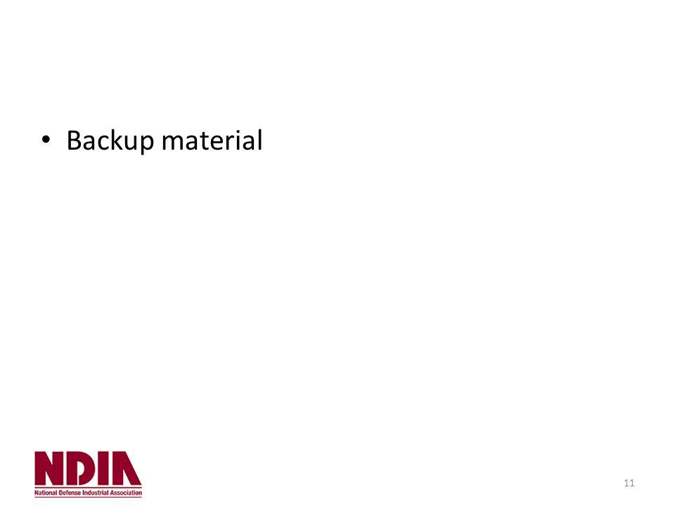 11 Backup material