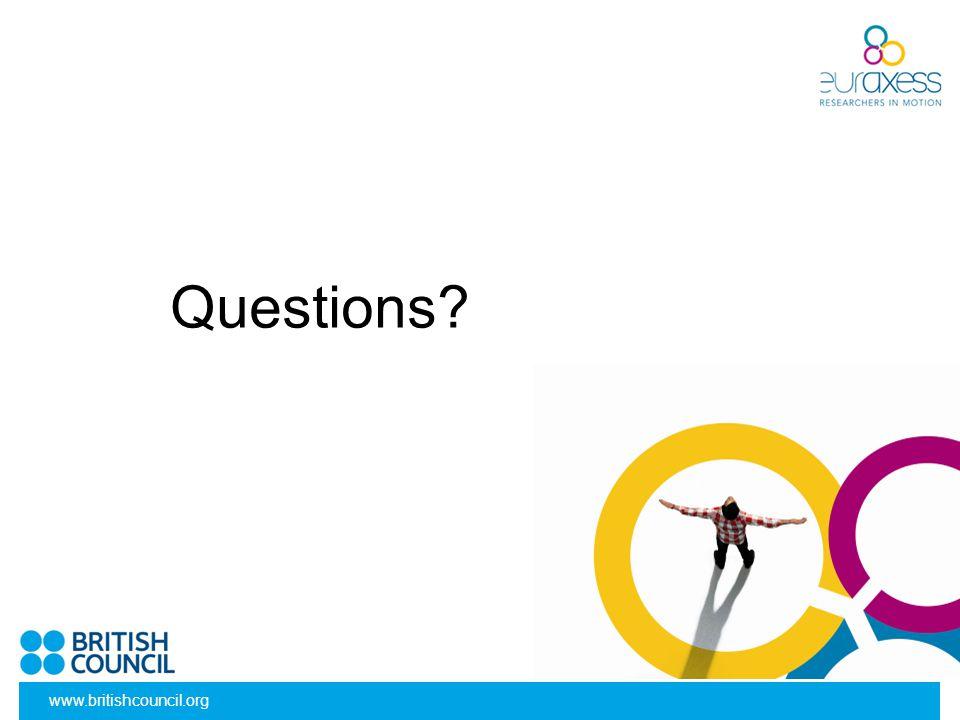 Questions? www.britishcouncil.org