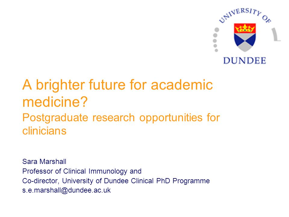 A brighter future for academic medicine.