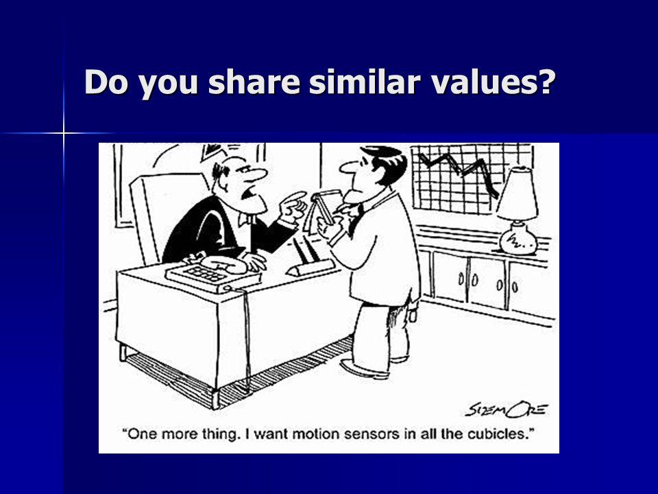 Do you share similar values