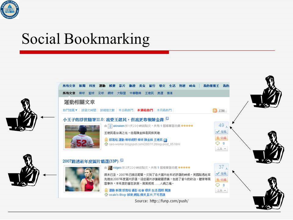 6 Social Bookmarking Source: http://funp.com/push/