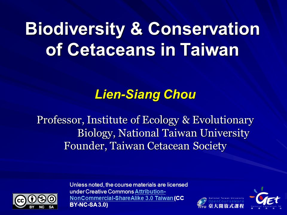 82 WorkLicenseAuthor/Source This work is from Taiwan Cetacean Society Whale Watching website and used subject to the fair use doctrine of the Taiwan Copyright Act Article 52 & 65 by GETTaiwan Cetacean Society Whale Watching website NASA World Wind JAVA SDK; Edited by 王有禎 http://goworldwind.org/demos/ 2011/10/3 visited Wiki Crates; Edited by 王有禎 http://commons.wikimedia.org/wiki/File:World_map_blank_without_border s.svg 2011/10/20 visited This work is licensed by Mr.