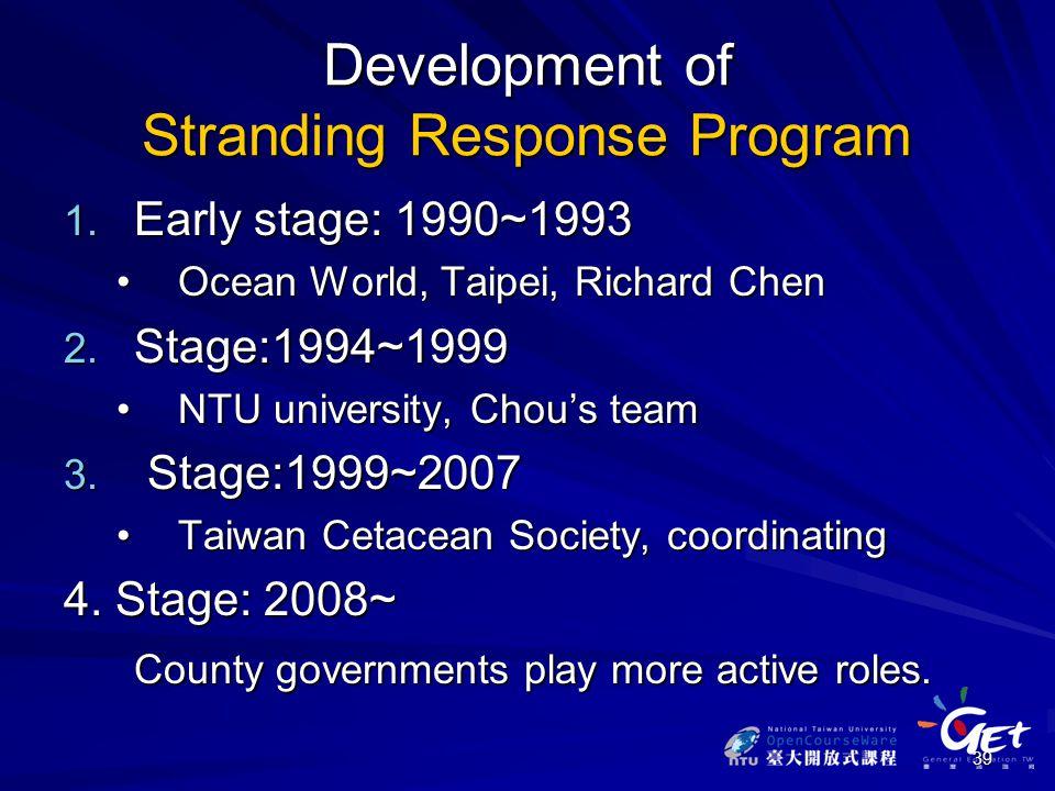 39 Development of Stranding Response Program 1.