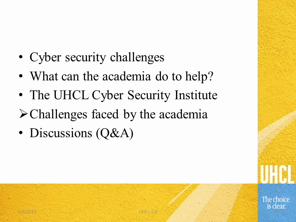 Cyber security challenges What can the academia do to help.