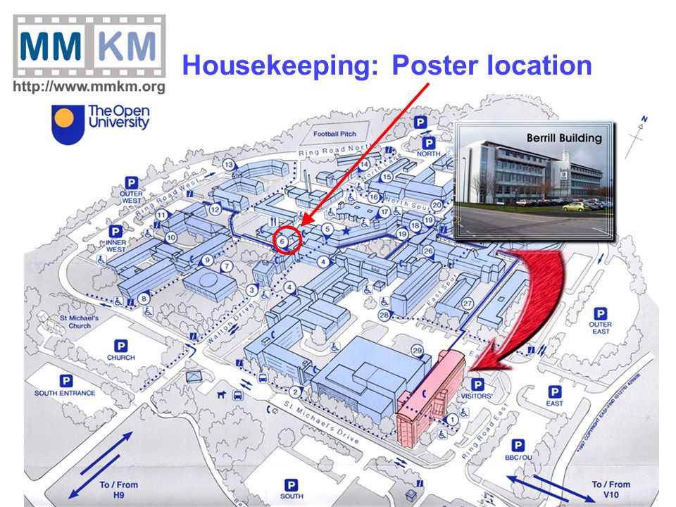 8 Housekeeping: Poster location