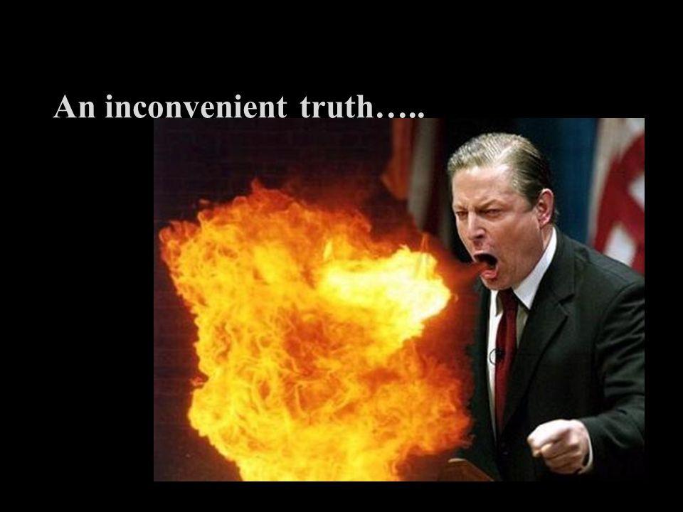 An inconvenient truth…..
