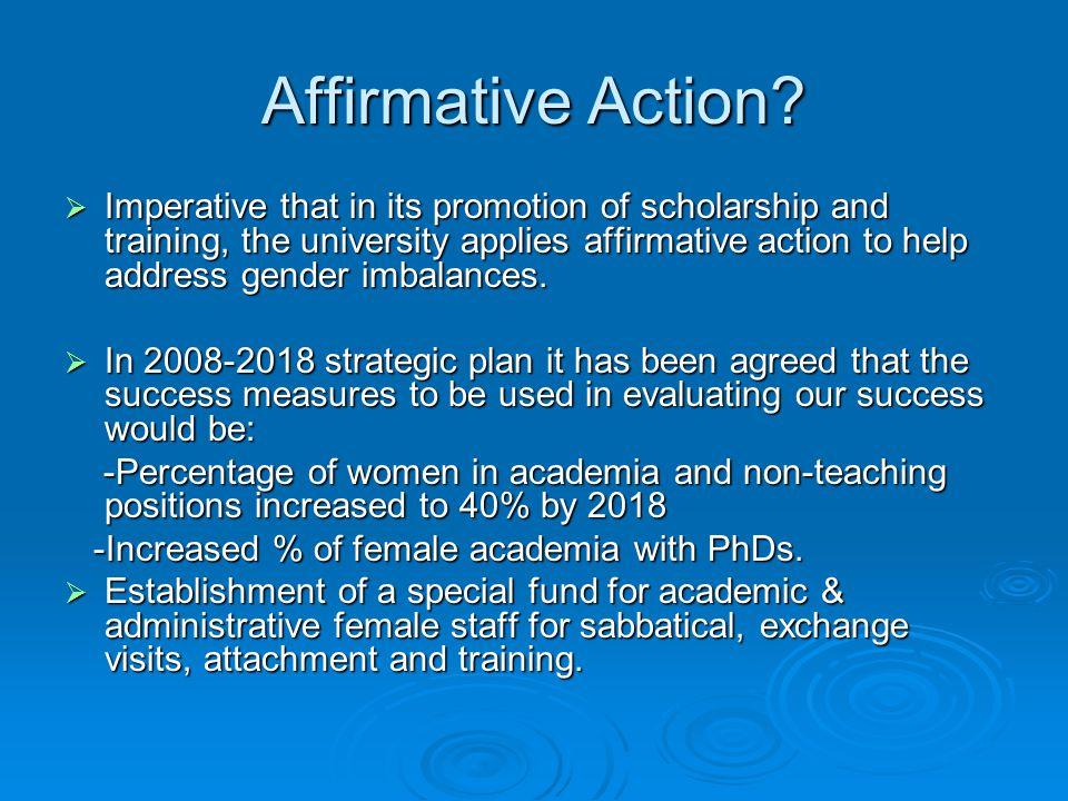 Affirmative Action.
