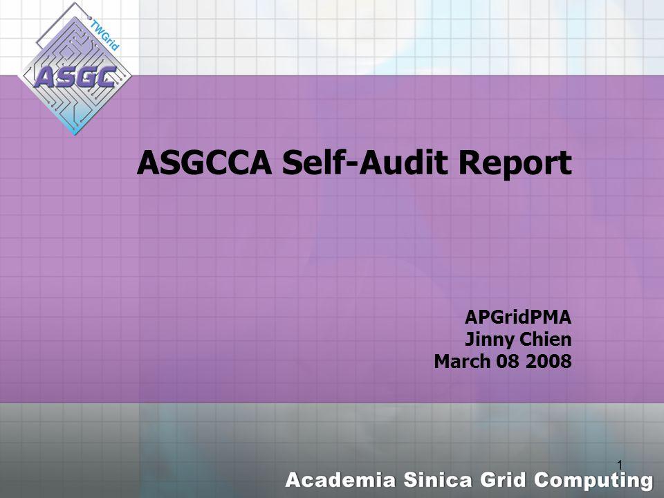 2 Outline ASGCCA basic audit Information ASGCCA Audit Score list The Detailed Audit Report Summary & Further Plan
