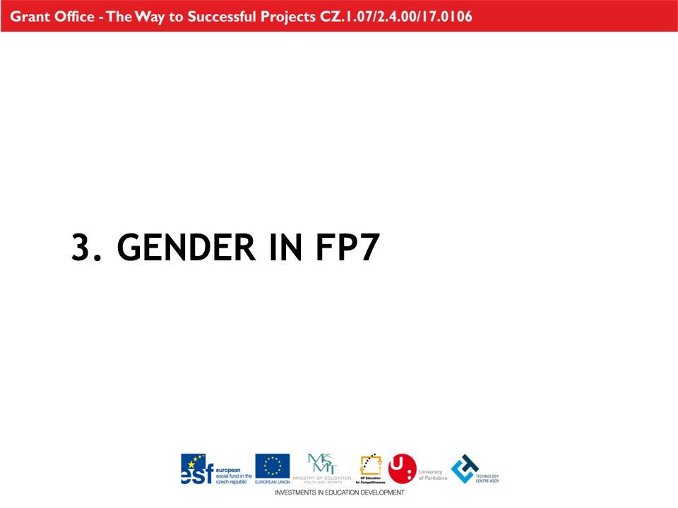 3. GENDER IN FP7