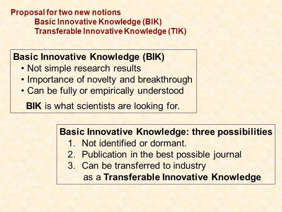 IIIConclusions BIK to TIK Networks of Excellence are strongly engaged in innovation activities.