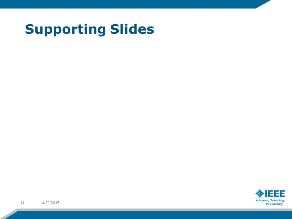 Supporting Slides 4/30/201511