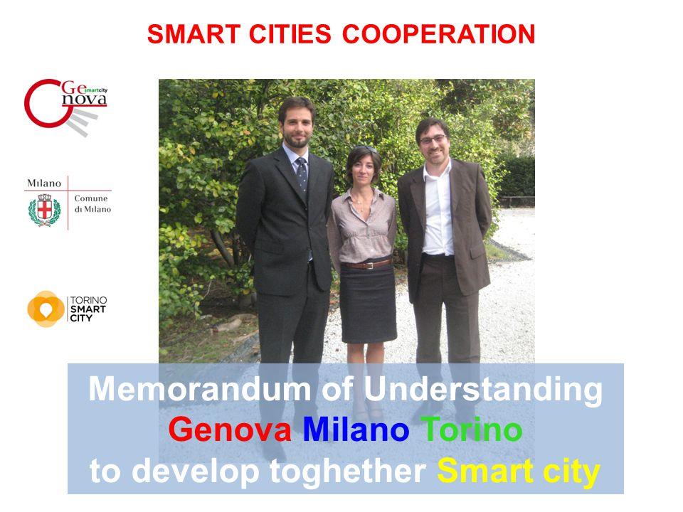 Memorandum of Understanding Genova Milano Torino to develop toghether Smart city SMART CITIES COOPERATION