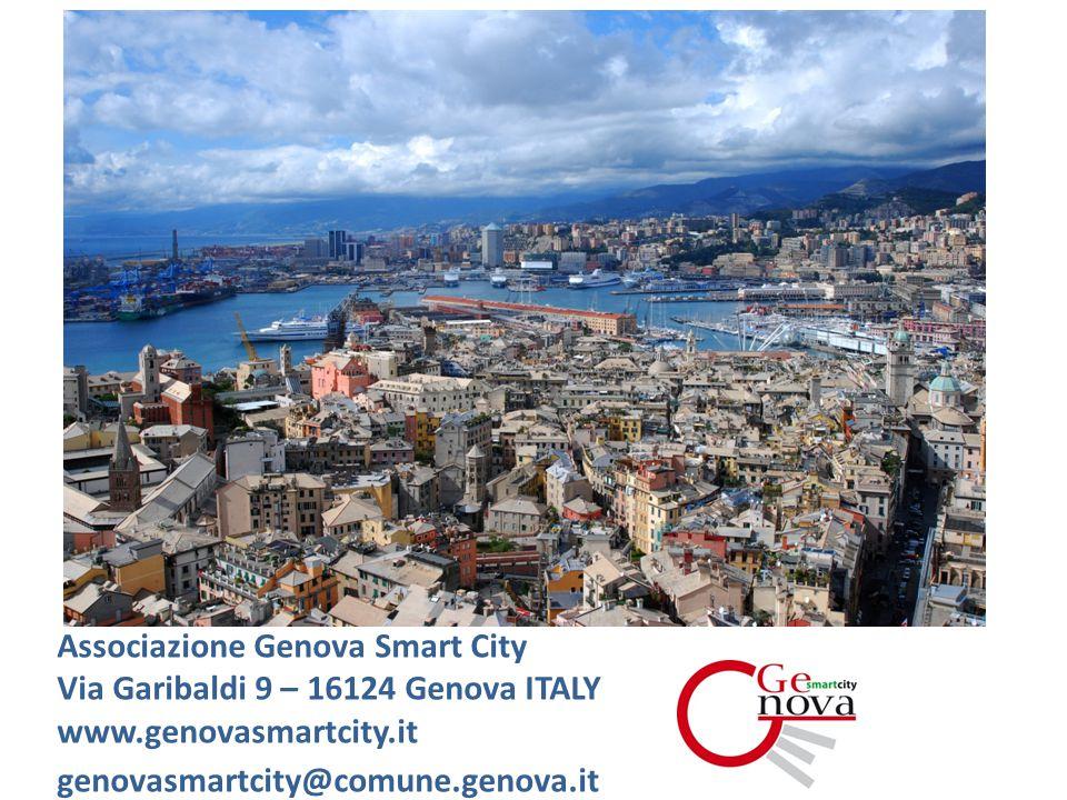 Associazione Genova Smart City Via Garibaldi 9 – 16124 Genova ITALY www.genovasmartcity.it genovasmartcity@comune.genova.it