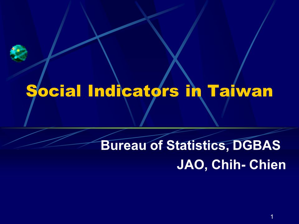 Social Indicators in Taiwan 11 3. Future Prospect