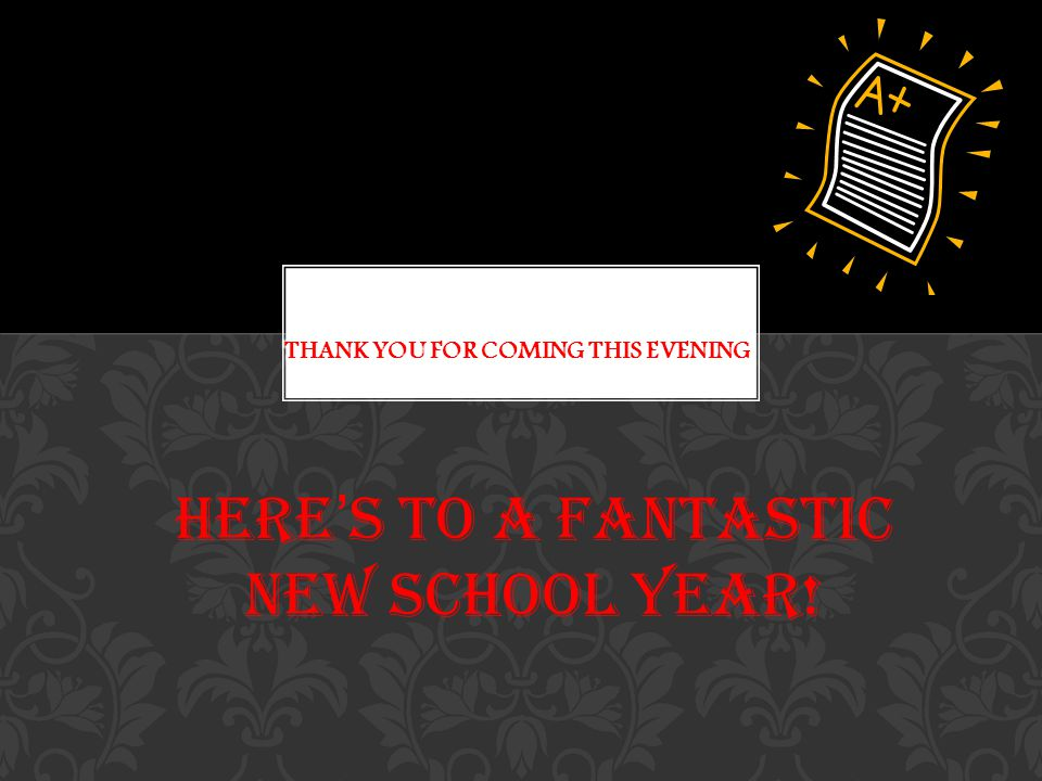 Here's to a fantastic new school year!