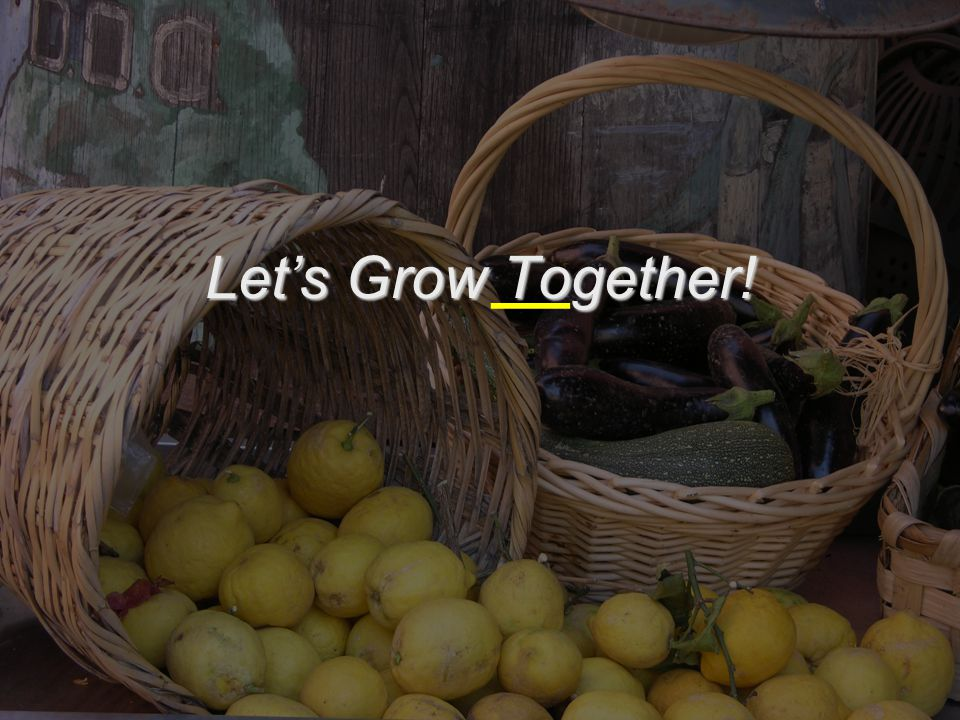  Let's Grow Together!
